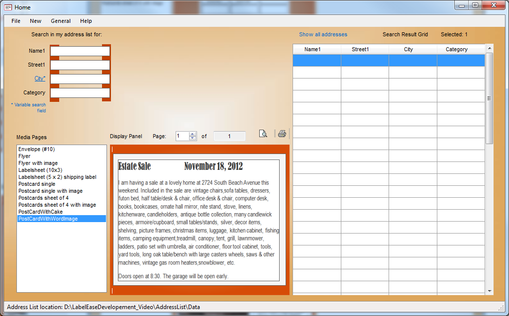LabelEase, Productivity Software Screenshot