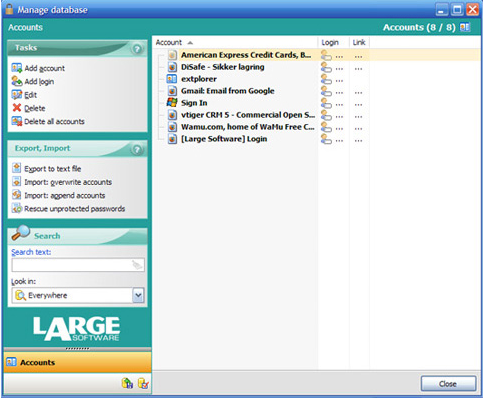 Encryption Software, LargeSoftware Utility Suite Screenshot