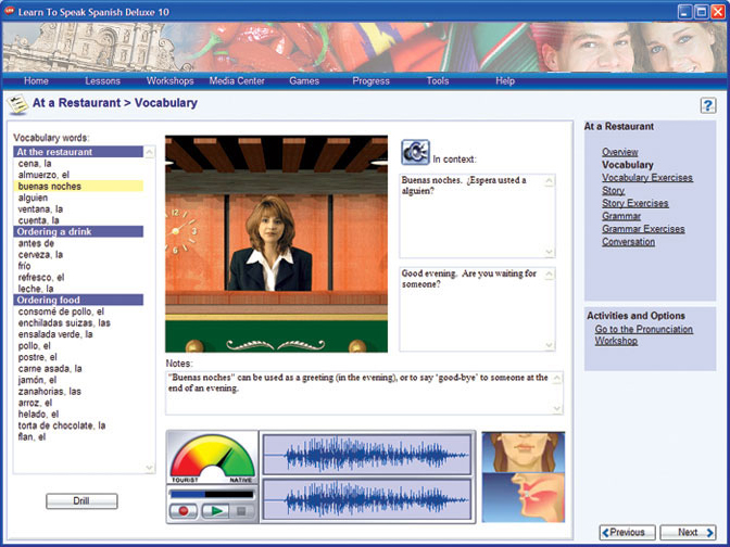 Learn to Speak Spanish Deluxe Screenshot