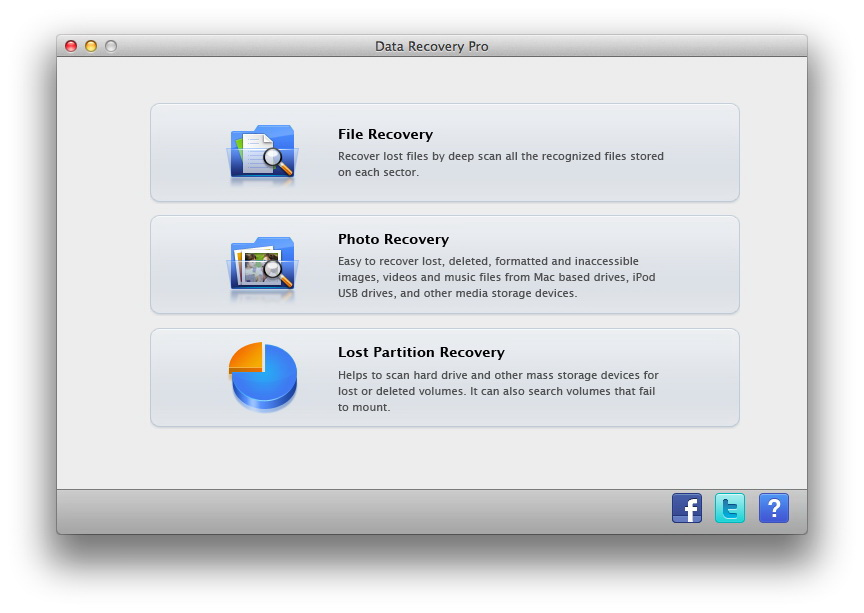Leawo Data Recovery for Mac Screenshot