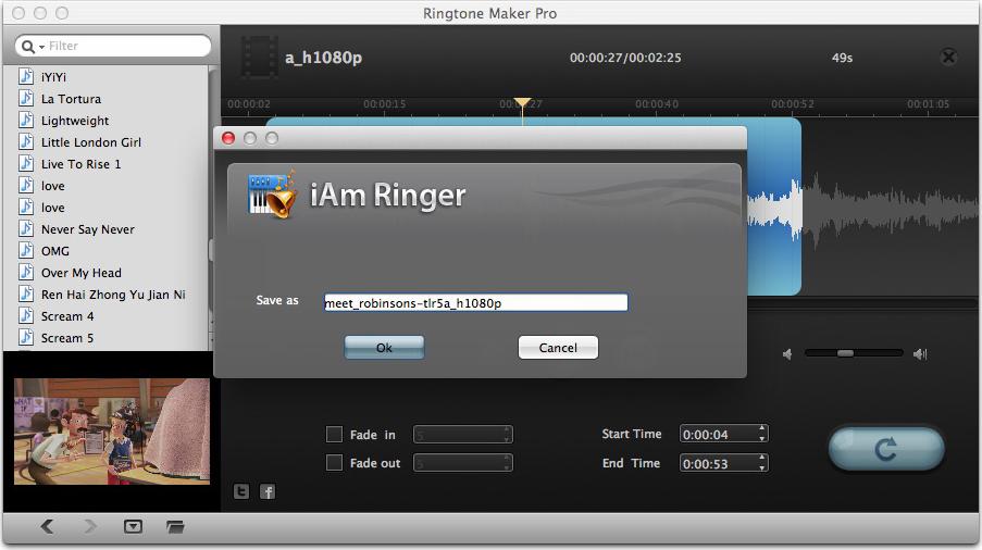 Leawo iAm Ringer for Mac, Music Software Screenshot