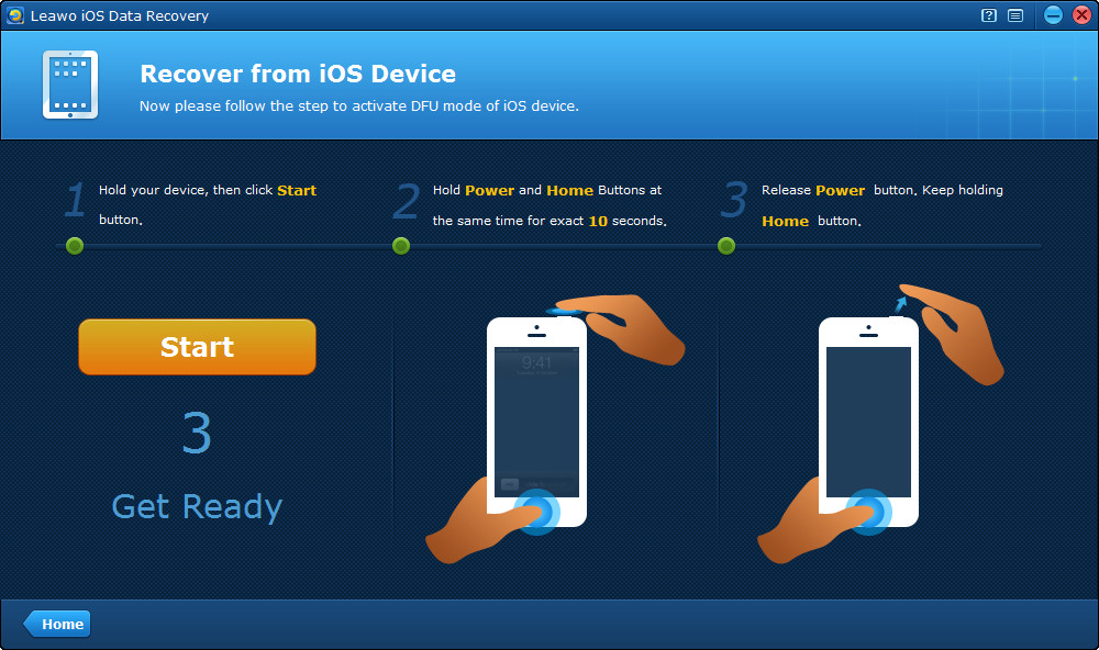 Leawo iPhone Data Recovery, Recovery Software Screenshot