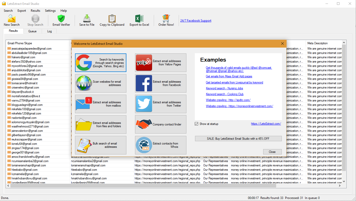 LetsExtract Email Studio Screenshot