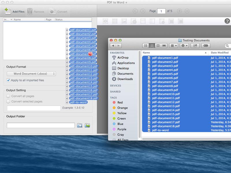 Lighten PDF to Word Converter for Mac, Business & Finance Software Screenshot