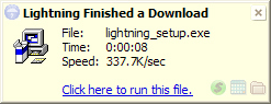 Lightning Download, Internet Software Screenshot