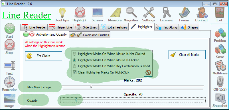 Line Reader Screenshot