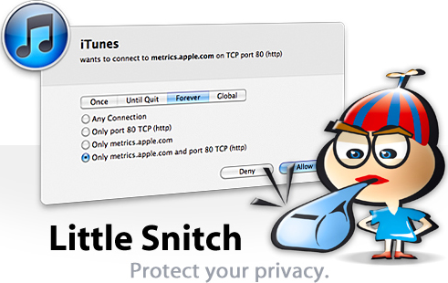 Little Snitch, Internet Security Software Screenshot