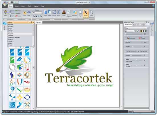 Logo design studio pro graphic design software for pc for Logo drawing software