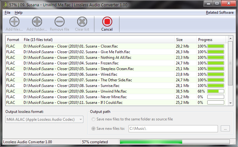 Audio Conversion Software Screenshot