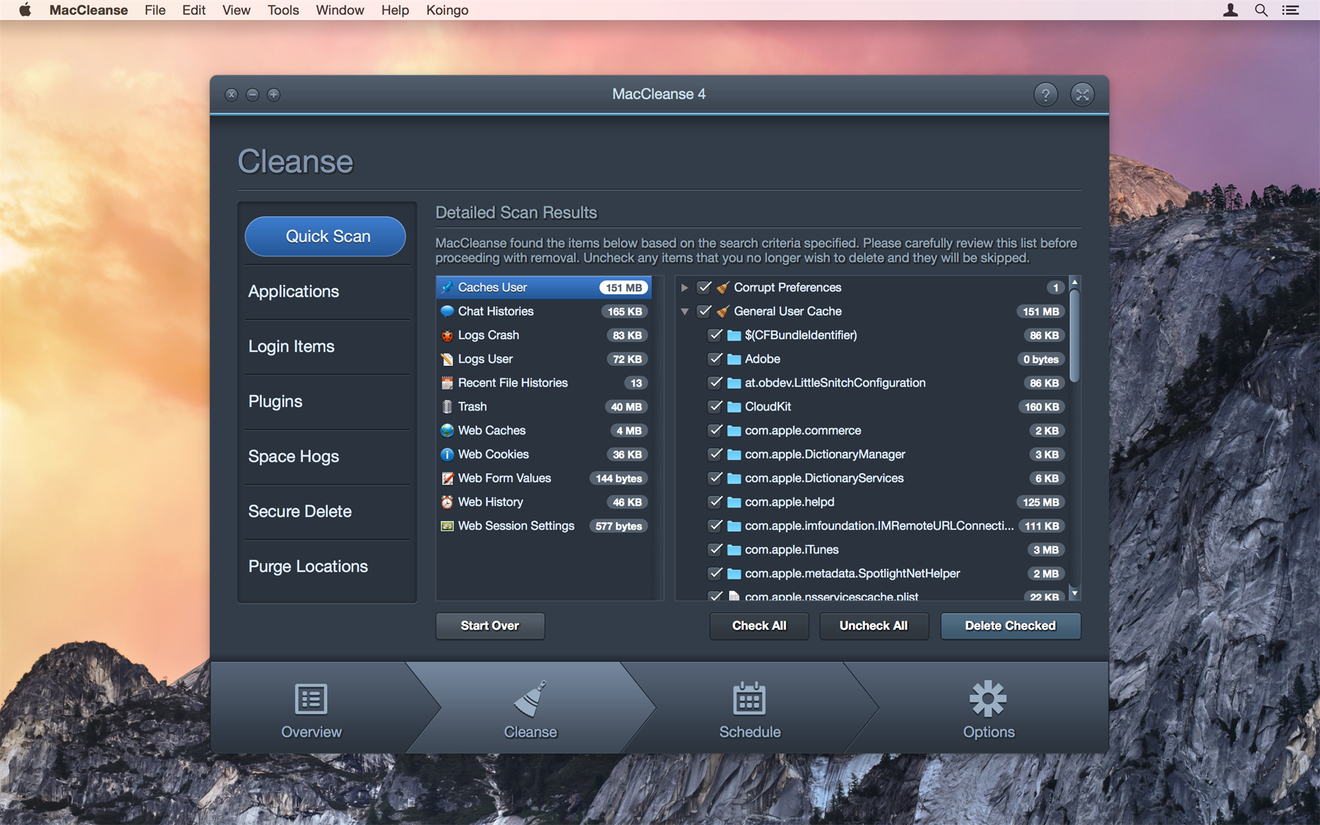 MacCleanse Screenshot
