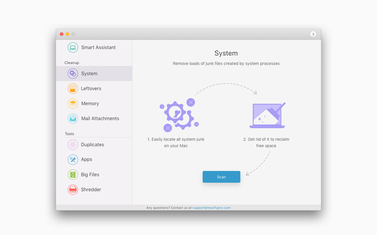PC Optimization Software, MacFly Pro Screenshot