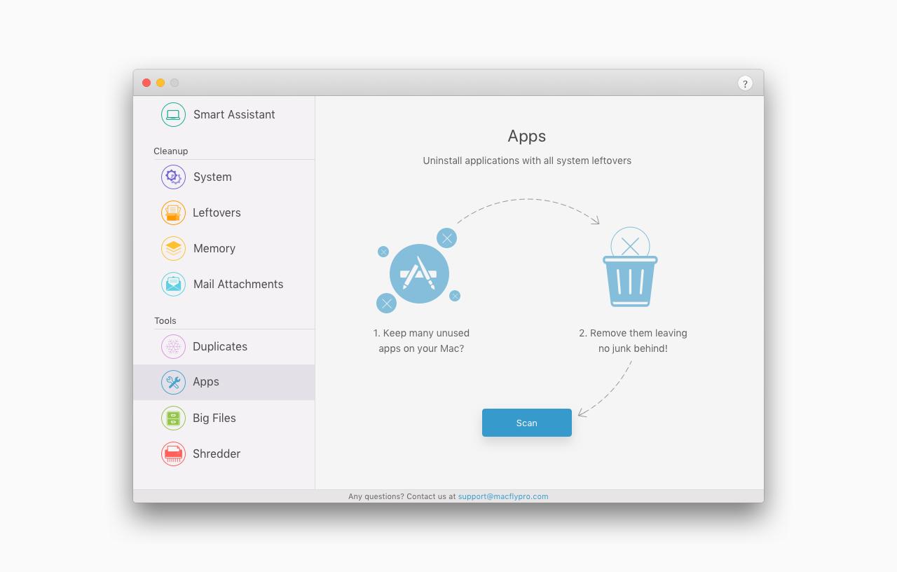 MacFly Pro, Software Utilities, PC Optimization Software Screenshot