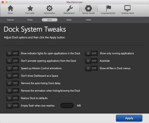 Software Utilities, MacOptimizer 3 Screenshot