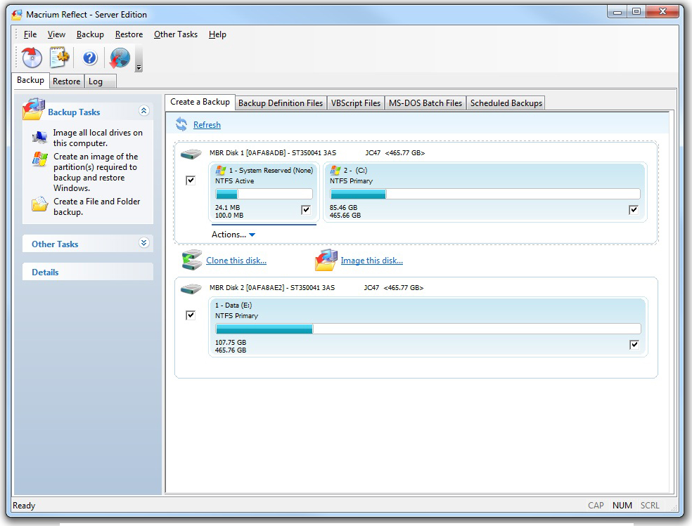 Macrium Reflect Professional - Backup Disk Image Software PC