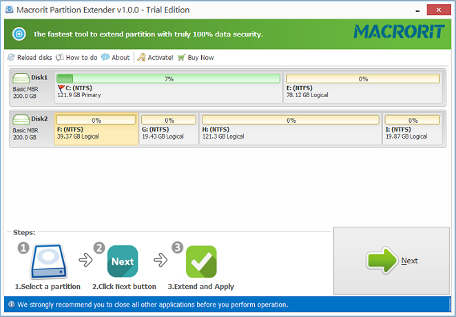 Macrorit Partition Extender Server + Free Lifetime Upgrade Screenshot
