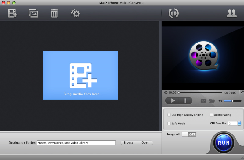 MacX iPhone Video Converter Screenshot