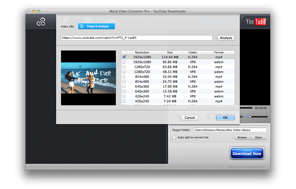 MacX Video Converter Pro, Video Converter Software Screenshot