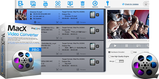 Video Converter Software, MacX Video Converter Pro Screenshot