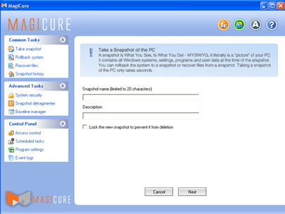 Security Software, MagiCure Professional Screenshot