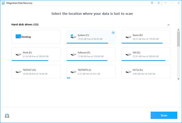 Magoshare Data Recovery for Windows Screenshot