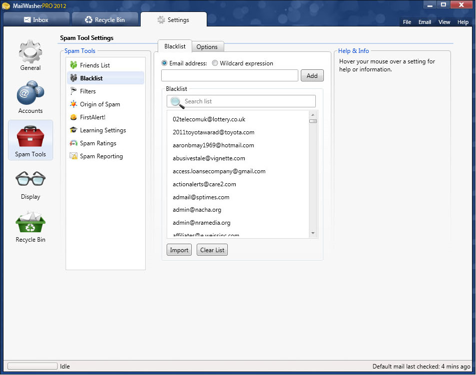MailWasher Pro 2012, Email Tools Software Screenshot