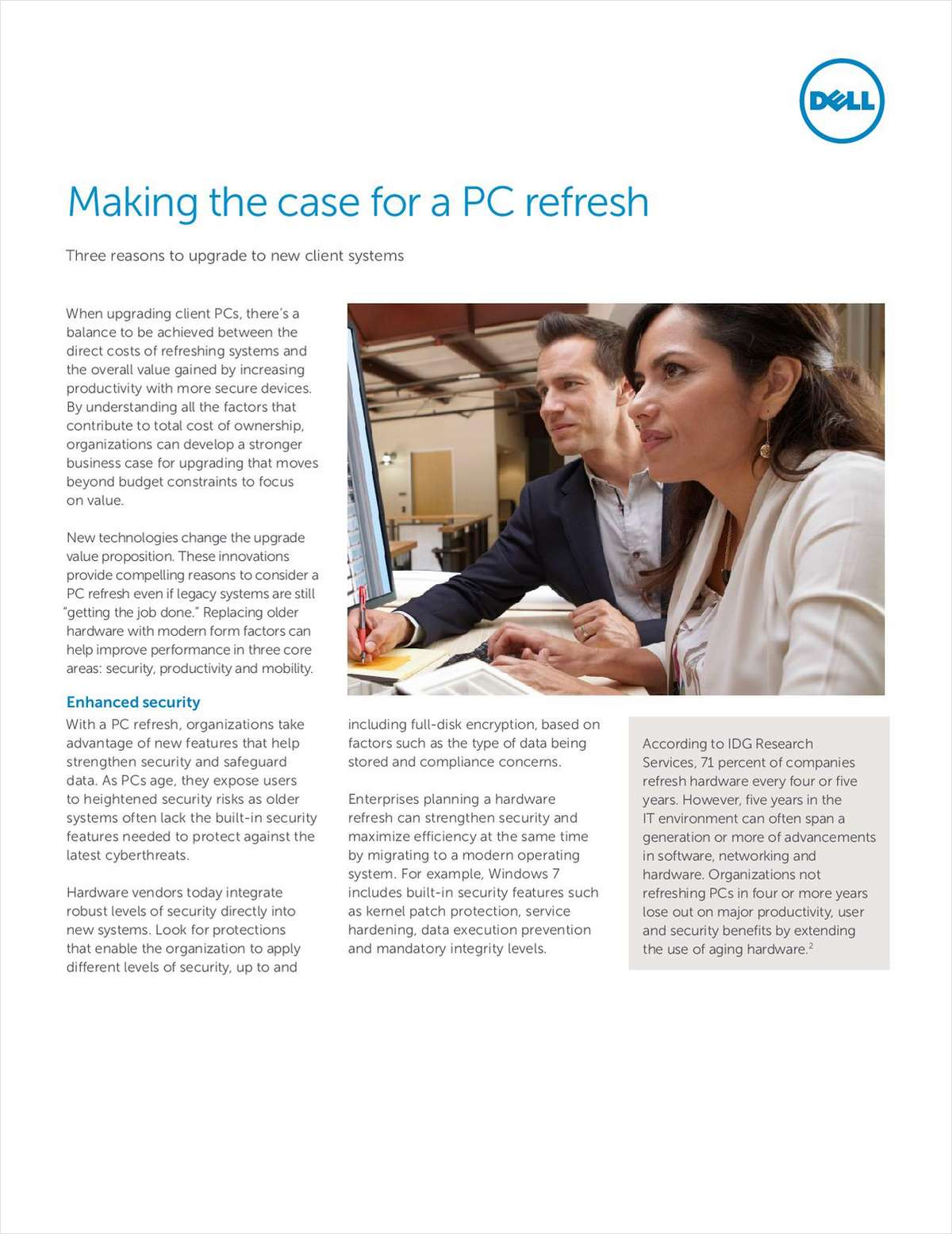 Making the Case for a PC Refresh - Three Reasons to Upgrade to New Client Systems Screenshot