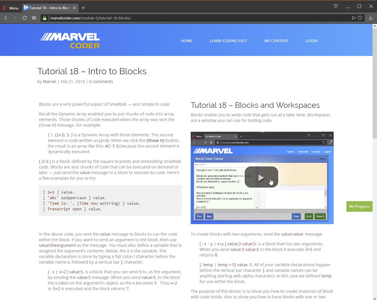 Web Development Software, MarvelCoder — Learn Coding Fast Screenshot