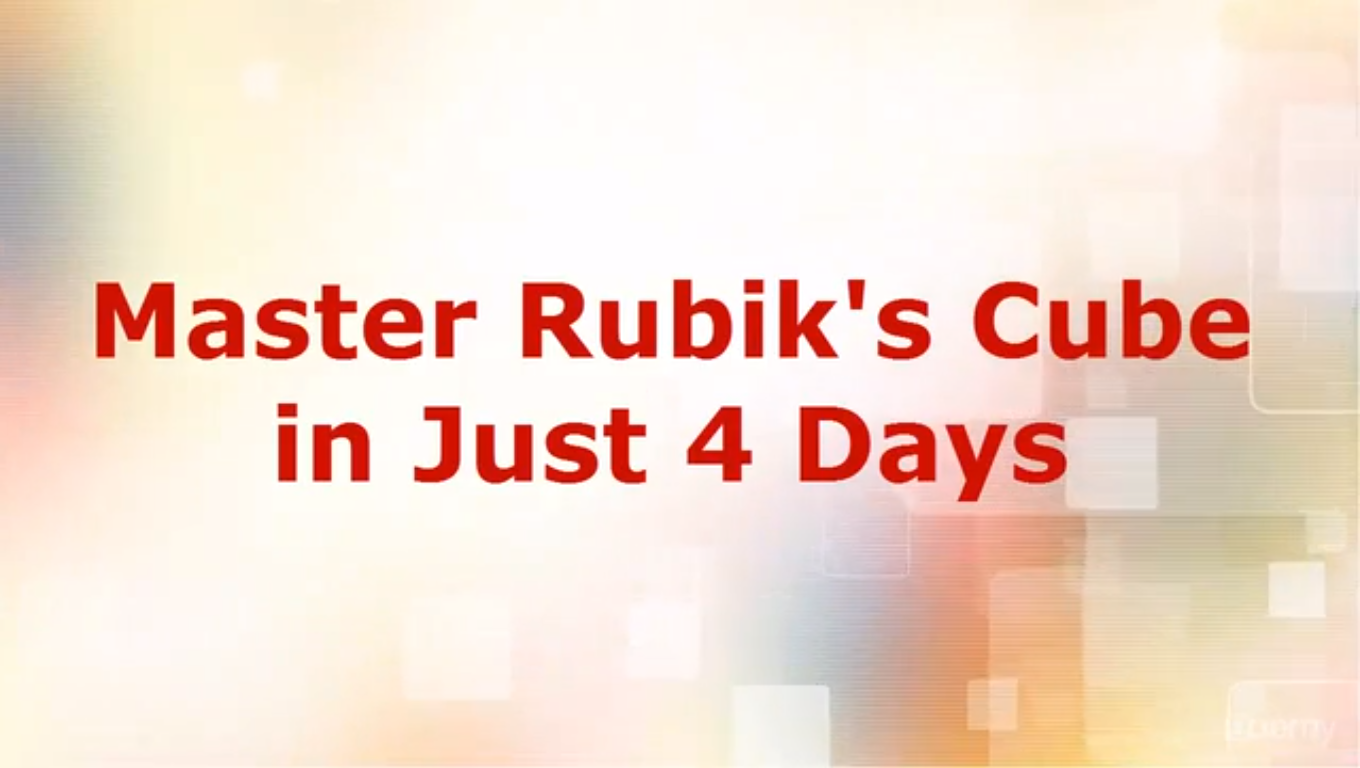 Master Rubik's Cube in 4 days! Screenshot