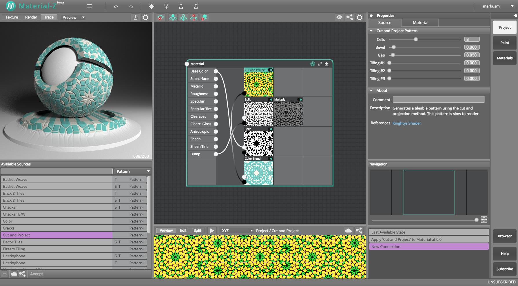 Graphic Design Software, Material-Z Screenshot