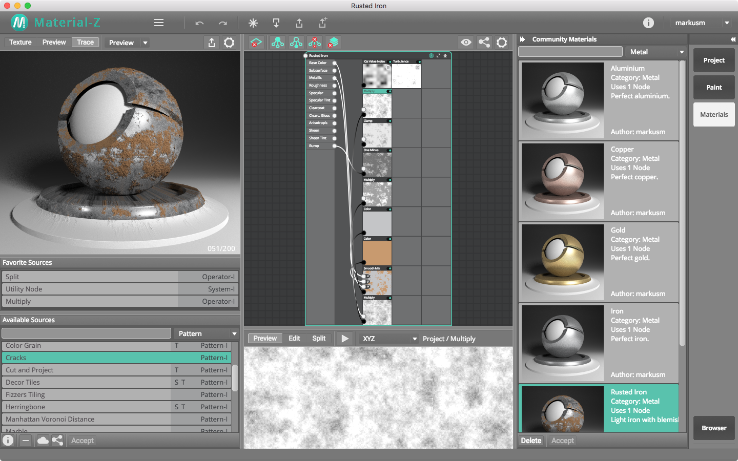 Material-Z, Design, Photo & Graphics Software Screenshot