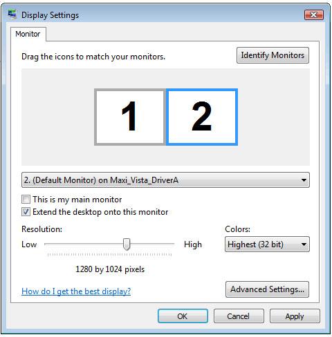 Desktop Space Software, MaxiVista Pro Screenshot.