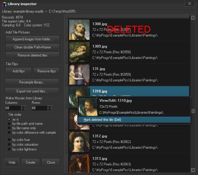 Graphic Design Software, Mazaika Screenshot