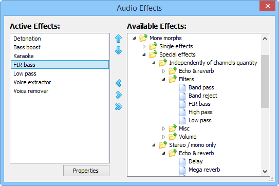 Media Player Morpher PLUS, Audio Software, Music Software Screenshot