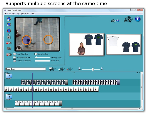 Media Zone Trigger, Presentation Software Screenshot