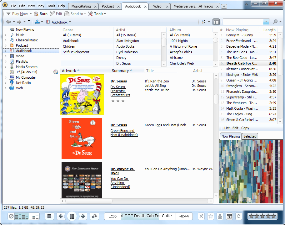 Audio Player Software, MediaMonkey Screenshot