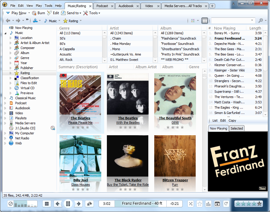 MediaMonkey, Audio Player Software Screenshot