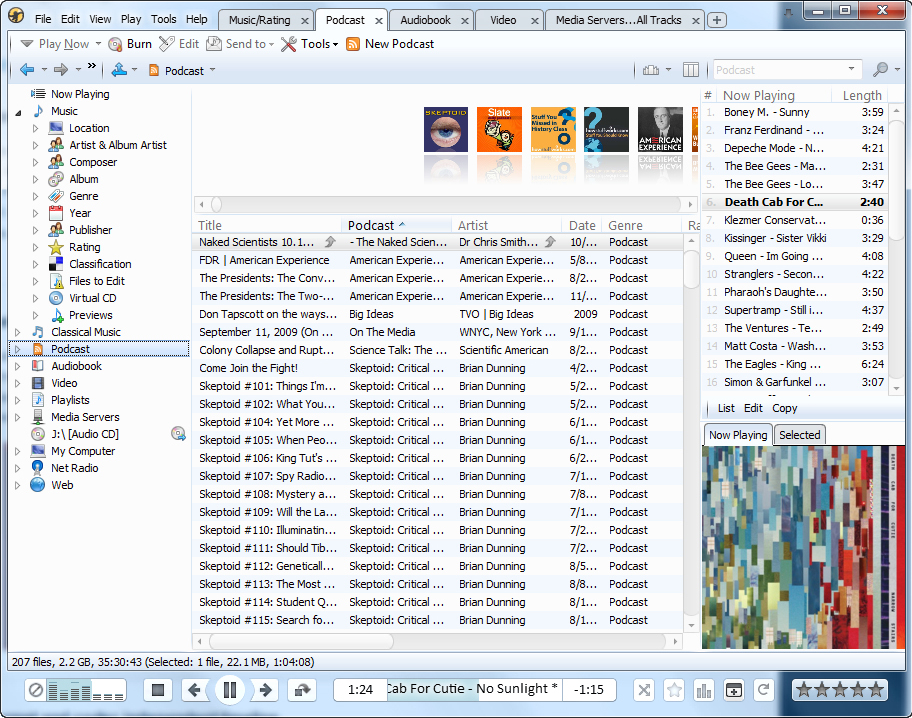 MediaMonkey, Audio Software Screenshot