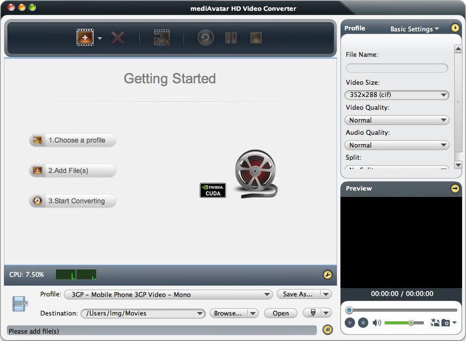 mediAvatar HD Video Converter Screenshot