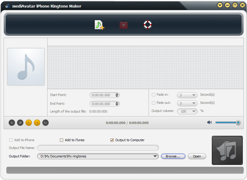 mediAvatar iPhone Ringtone Maker, Ringtone Maker Software Screenshot
