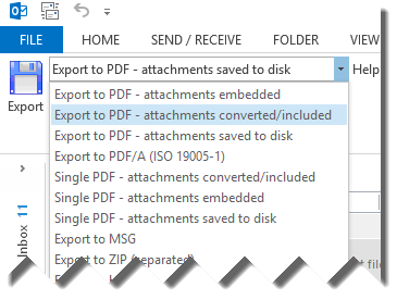 MessageExport add-in for Outlook Screenshot 9