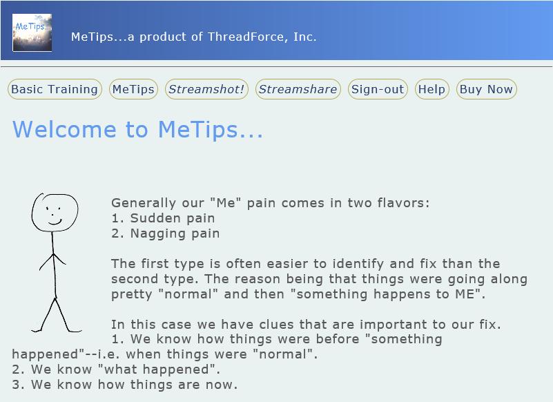 MeTips Screenshot