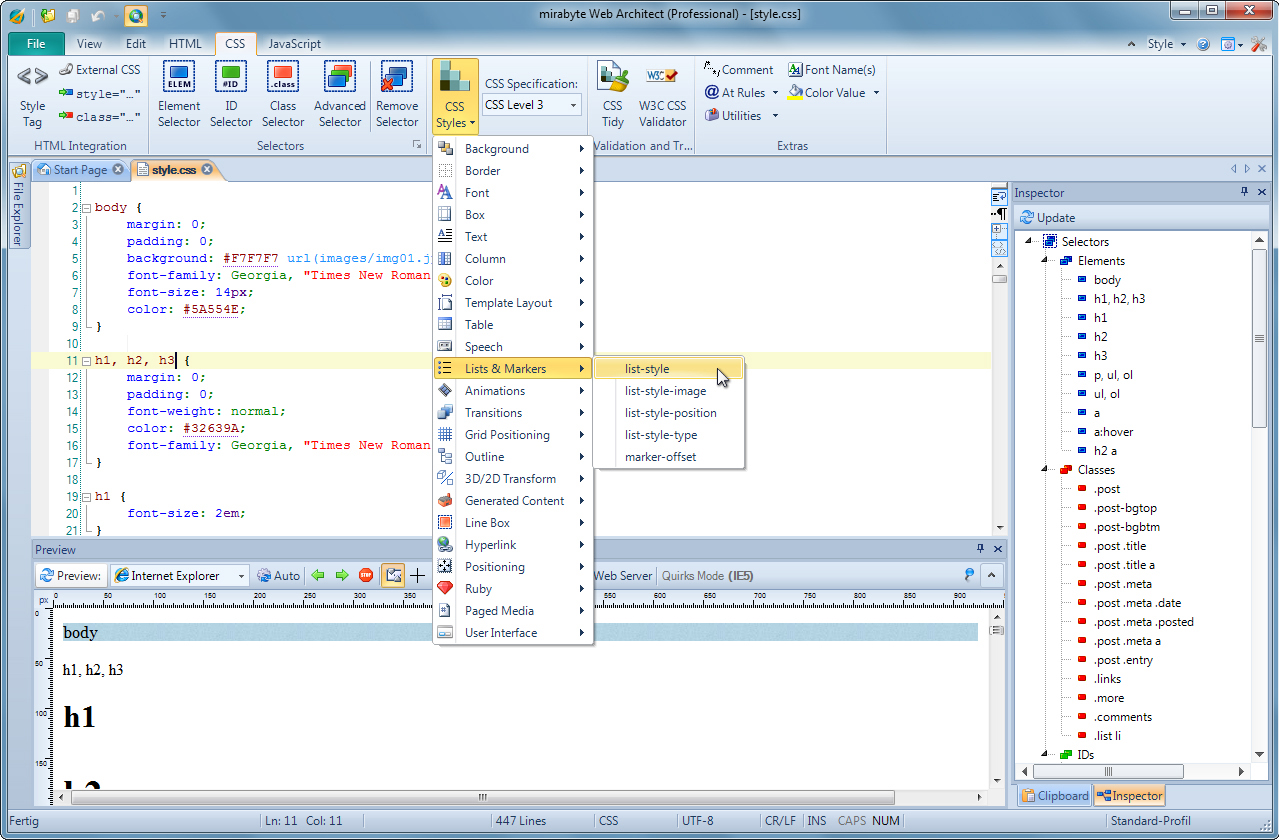 mirabyte Web Architect 9 Screenshot