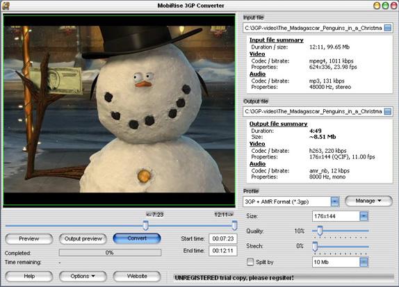 MobiRise 3GP Converter Screenshot