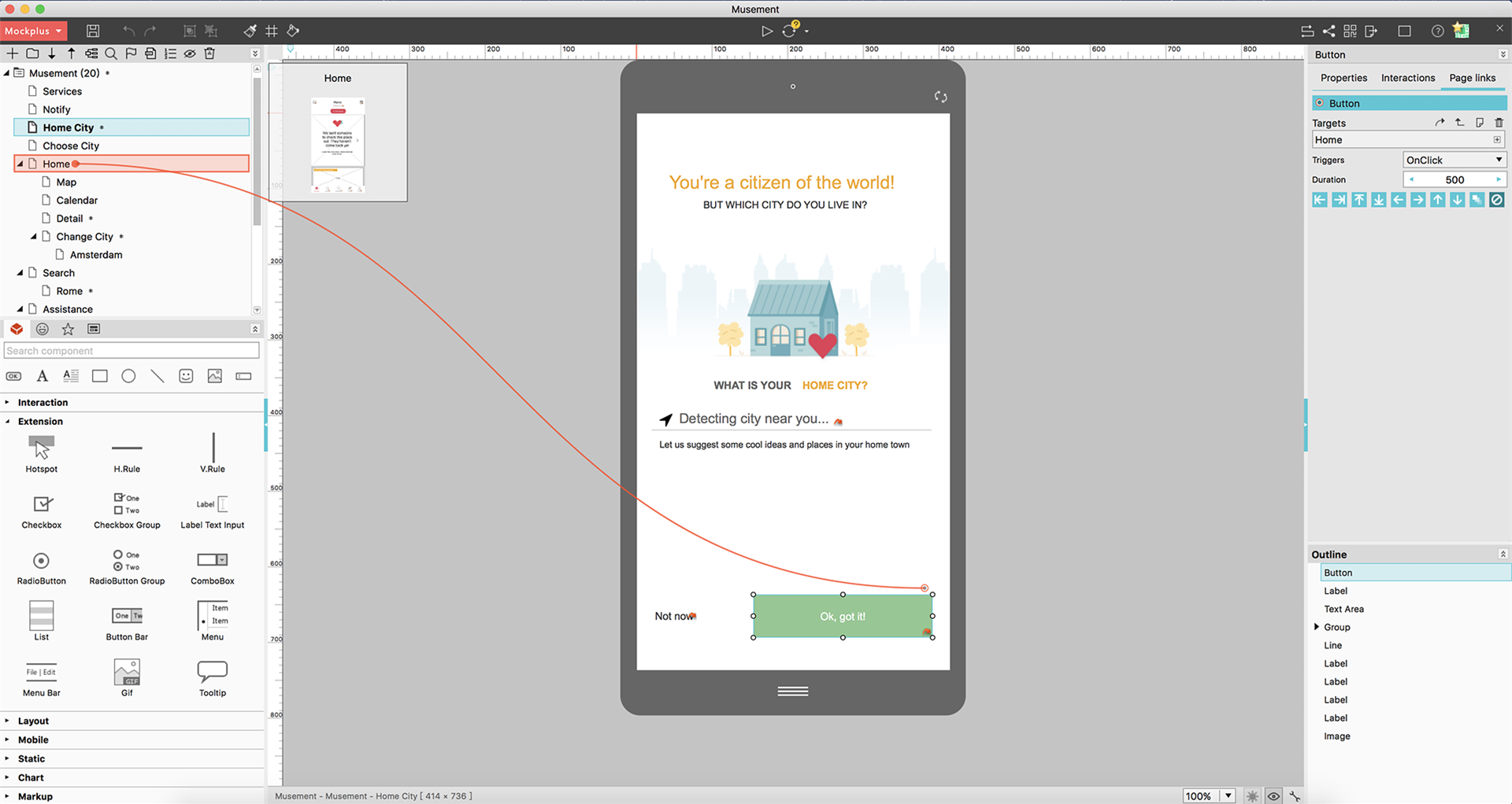 Mockplus, Design Tool Software Screenshot