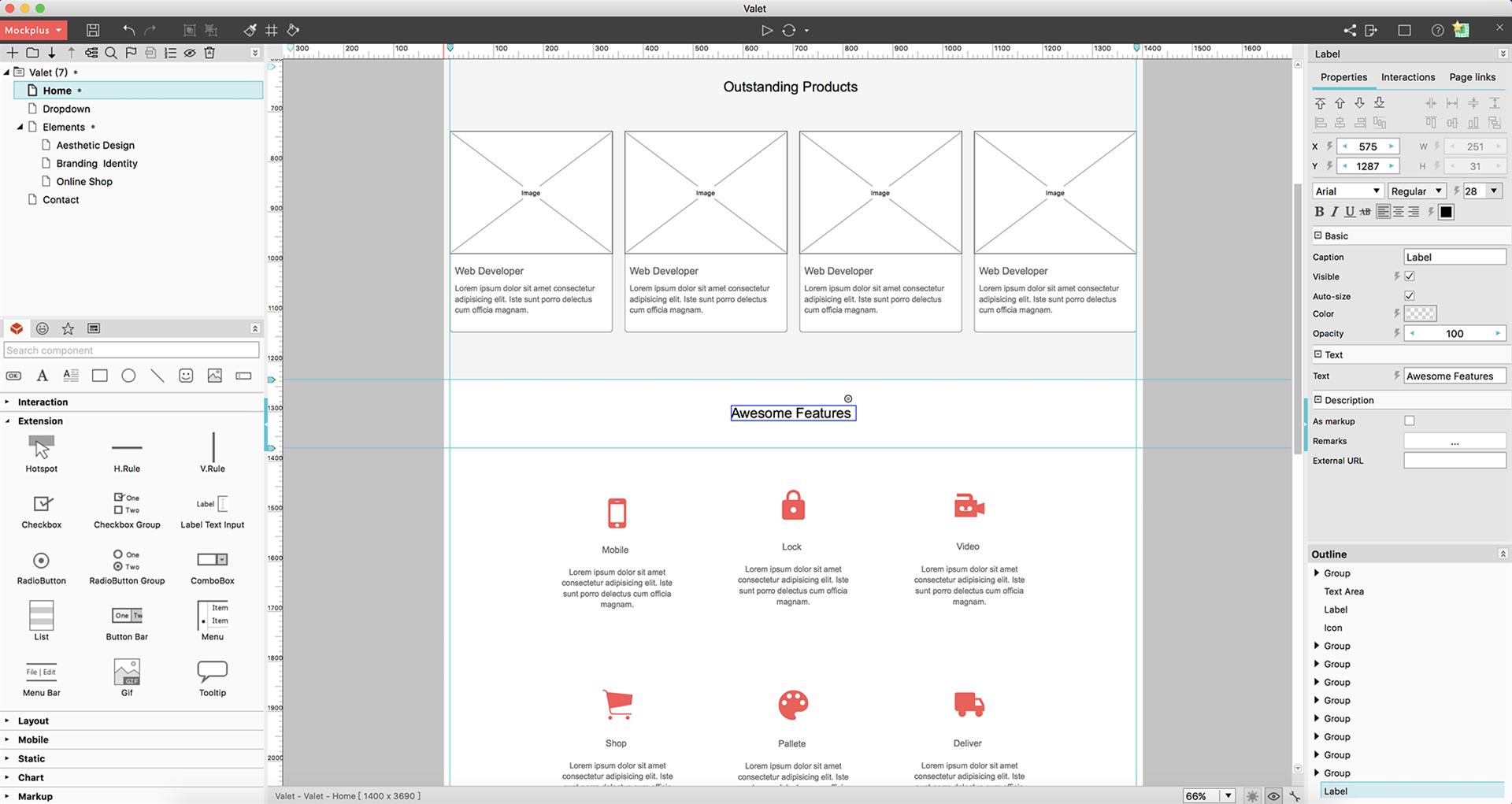 Mockplus, Development Software Screenshot
