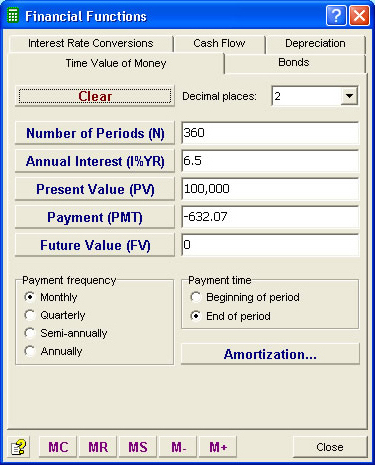 Productivity Software, Moffsoft Calculator Screenshot