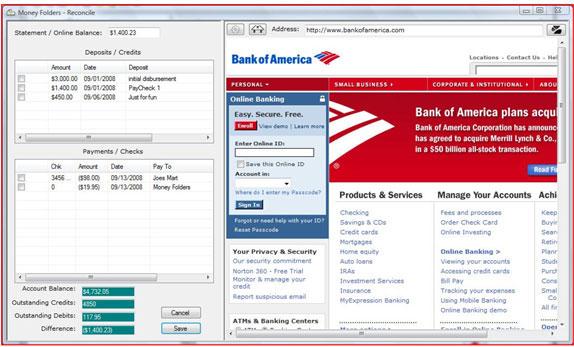 Personal Finance Software Screenshot