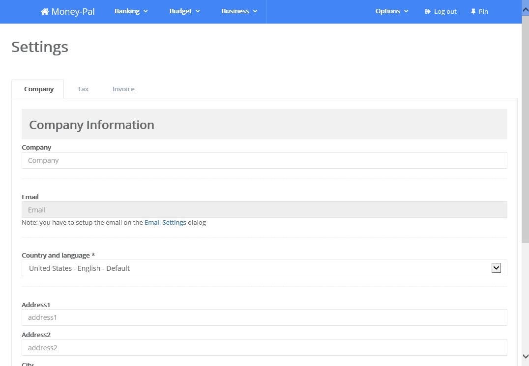 Business & Finance Software, Money-Pal Screenshot
