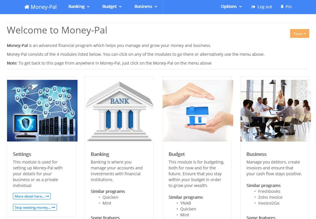 Money-Pal, Business & Finance Software Screenshot