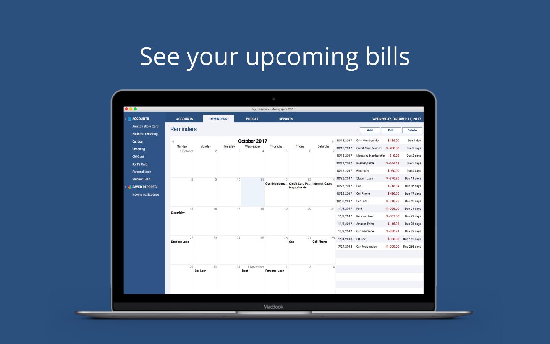 Finance Software, Moneyspire 2018 Screenshot